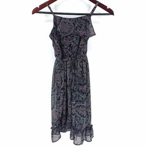 The Children's Place Girls Dress Black Floral NWT